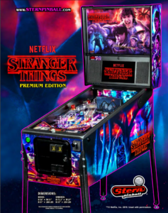 Stranger Things Premium pinball by Stern Pinball
