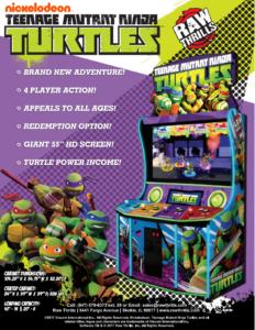 Teenage Mutant Ninja Turtles by Raw Thrills