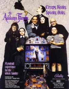 The Addams Family Pinball by Bally Williams