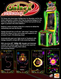 Galaga Assault by Bandai Namco, Raw Thrills