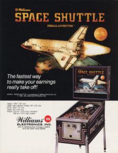 Space Shuttle Pinball flyer