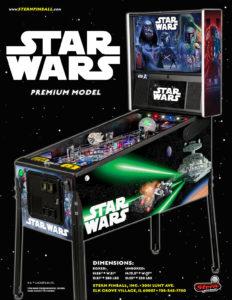 Star Wars Premium pinball by Stern Pinball, Steve Ritchie