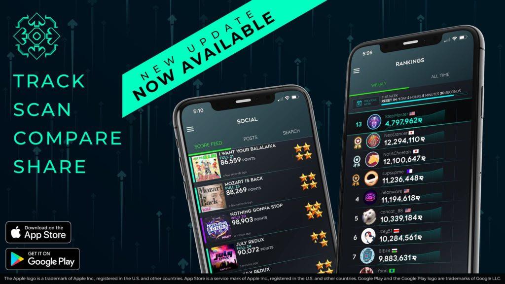 StepManiaX companion app for iOS/Android